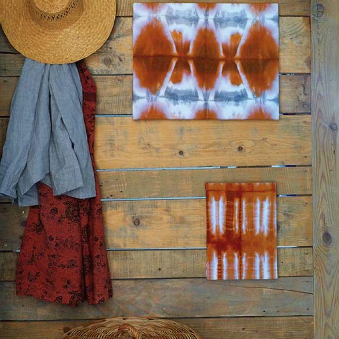 Shibori: tutorial dekoracyjnego farbowania
