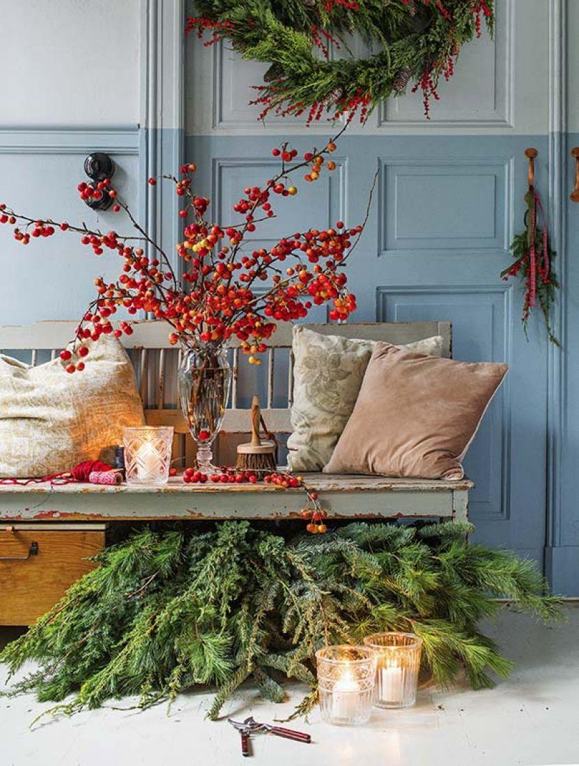 Boże Narodzenie Dekoracje Z Gałązek Werandacountrypl